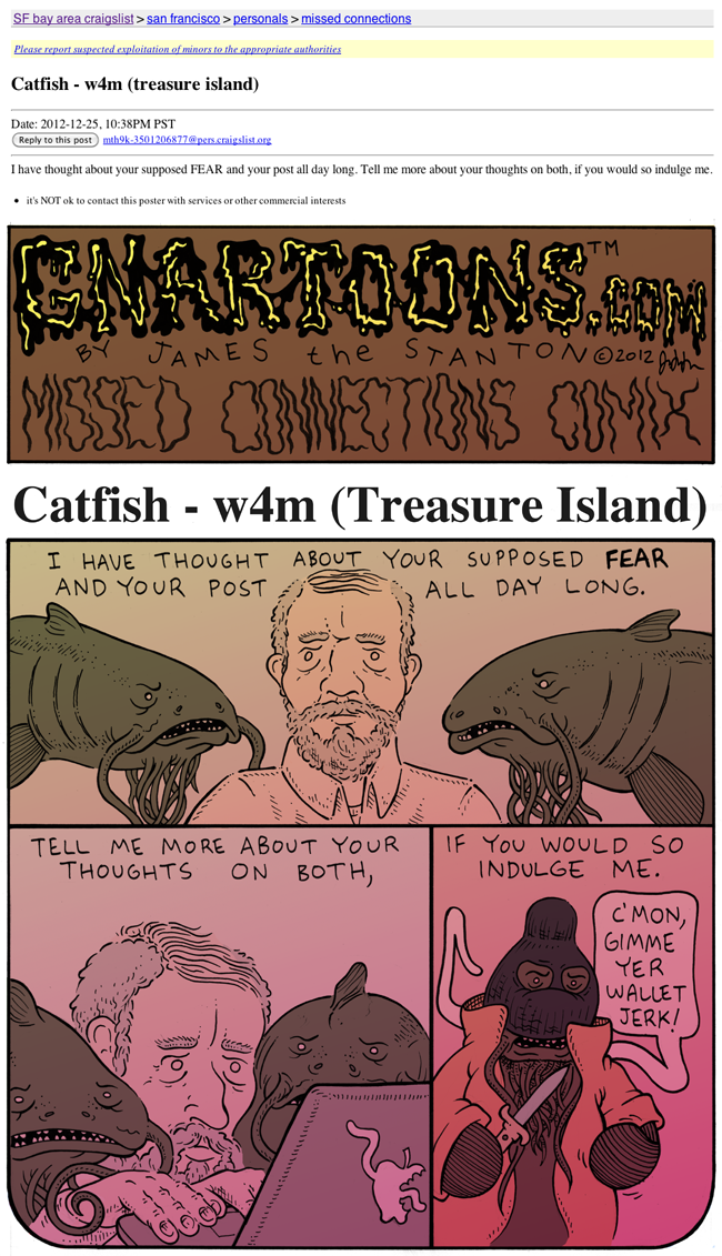 Missed Connections Comix: Catfish | Uptown Almanac