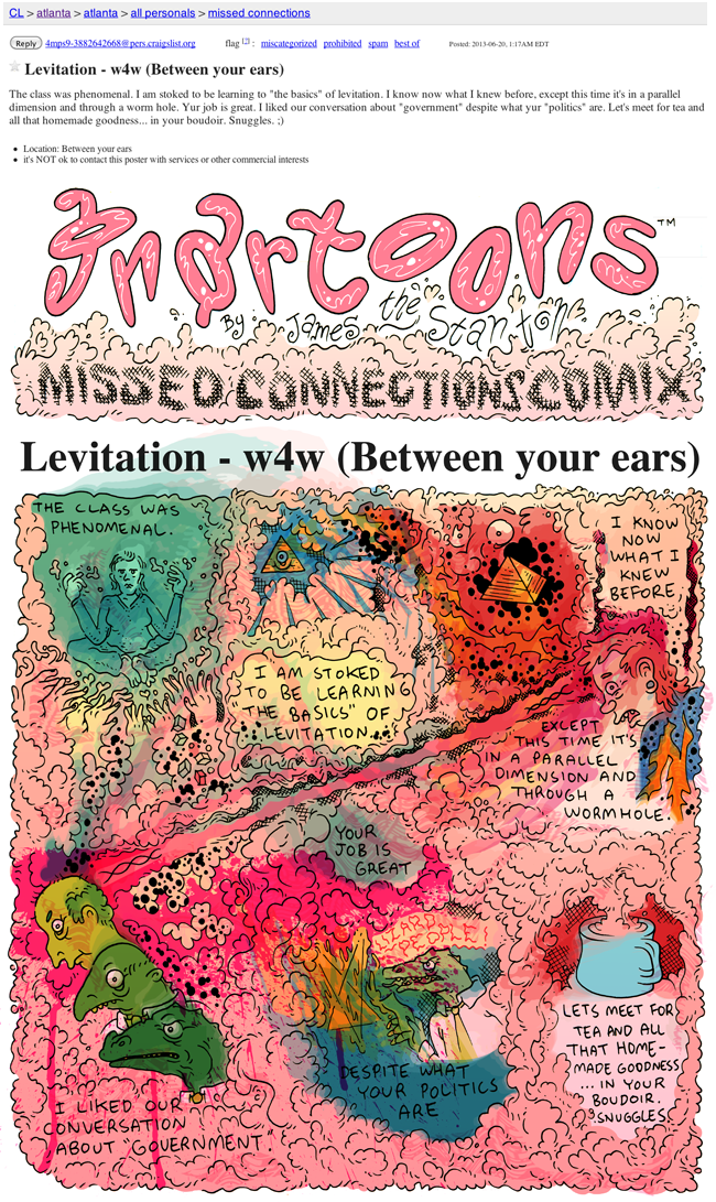 Craigslist Missed Connections Comix | Uptown Almanac