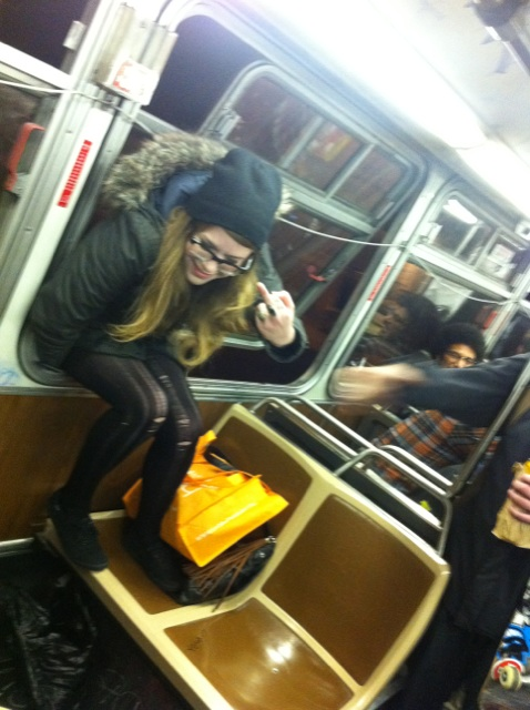 Pissing in bus