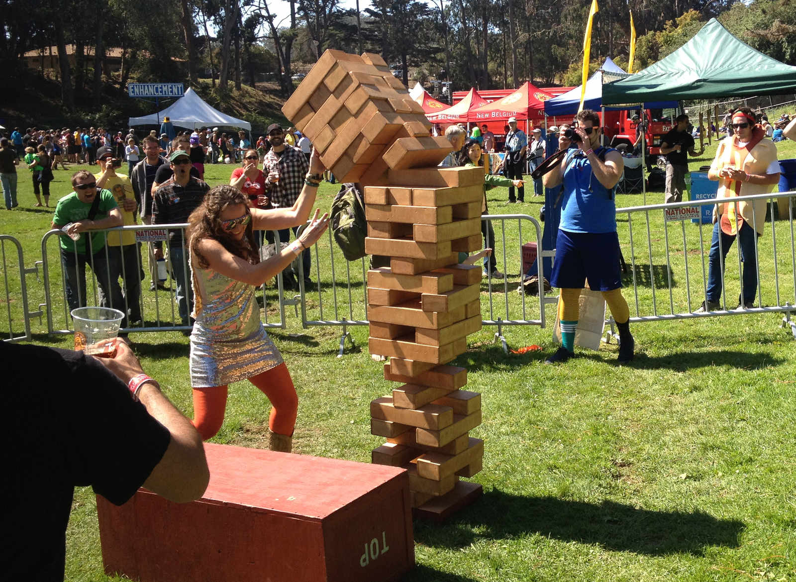 Giant Jenga Collapse Cropped