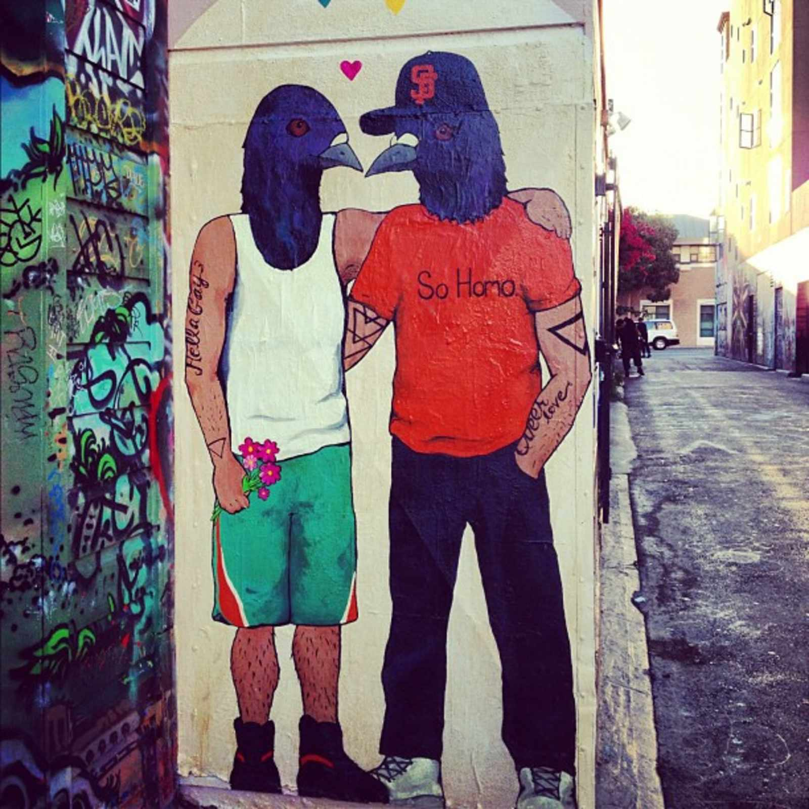 homo-pigeons-clarion-alley