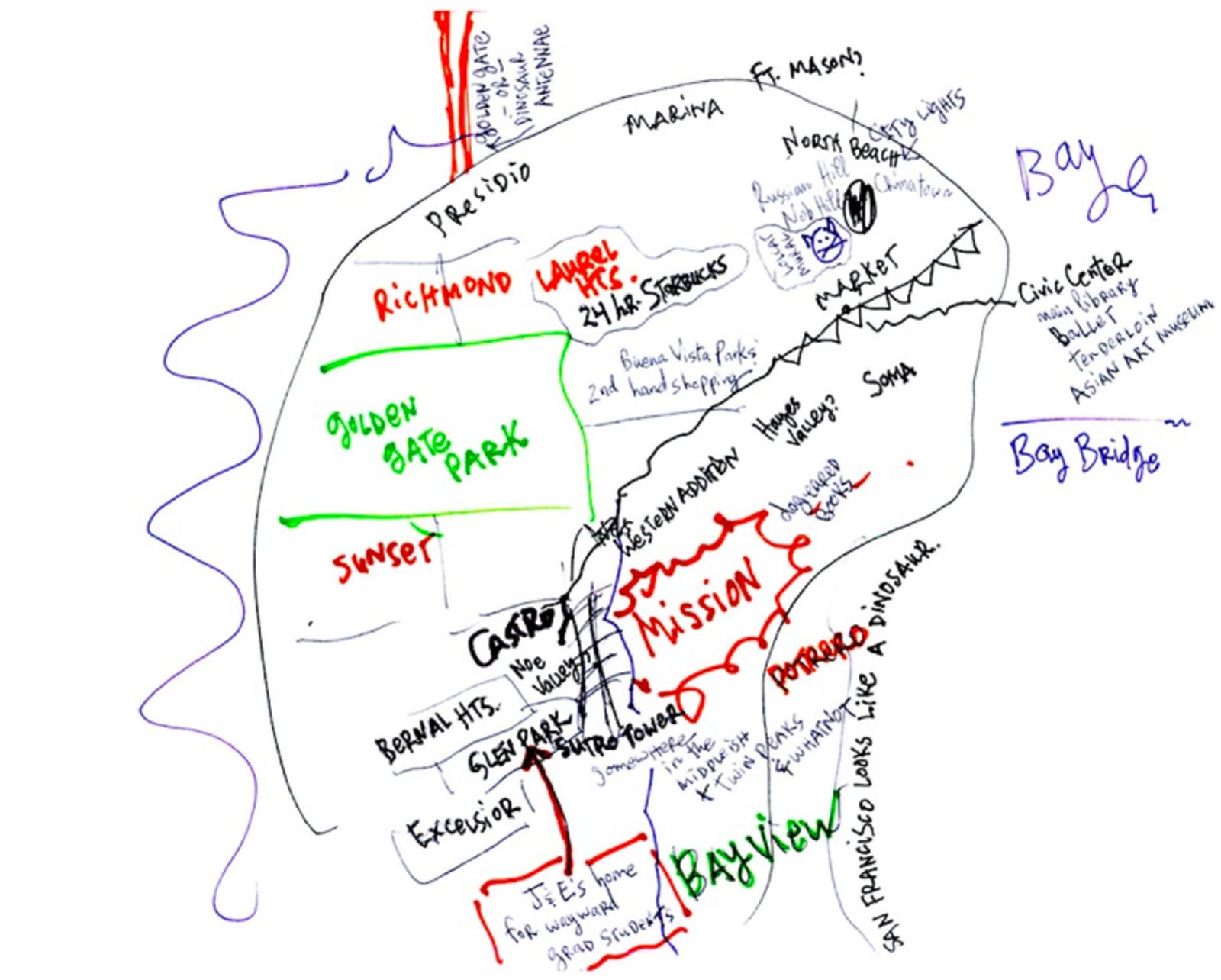 Visualizing Mental Maps of San Francisco Uptown Almanac