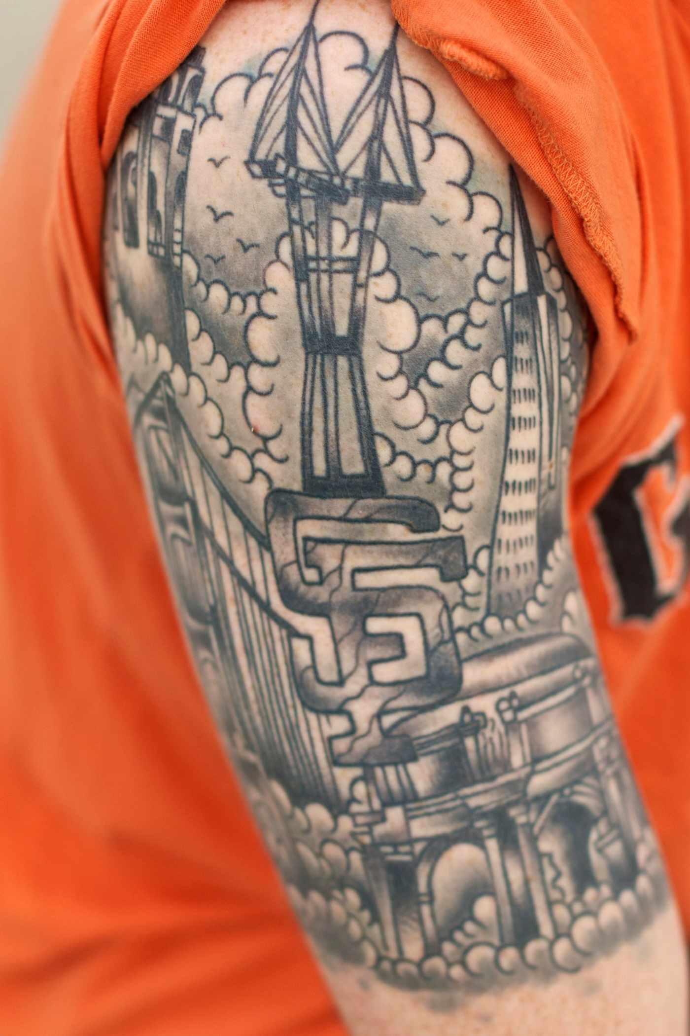 this guy has won the san francisco landmark tattoo game