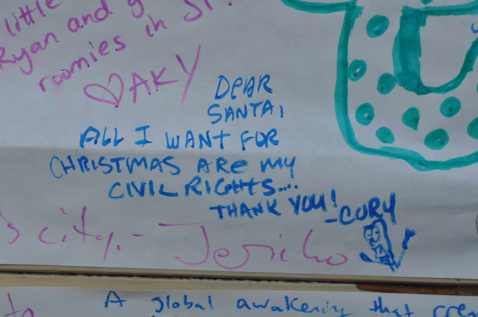 a common theme was to ask santa for political change societal change and peace and love and lolcats it is clear that sf has lost all faith in the - What To Ask For For Christmas